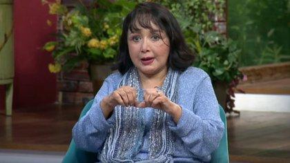 """María Antonieta de las Nieves """"La Chilindrina"""" dijo que ya se encuentra lista para tener otra relación con alguien que comparta soledad (Foto: Captura de pantalla TV Azteca)"""