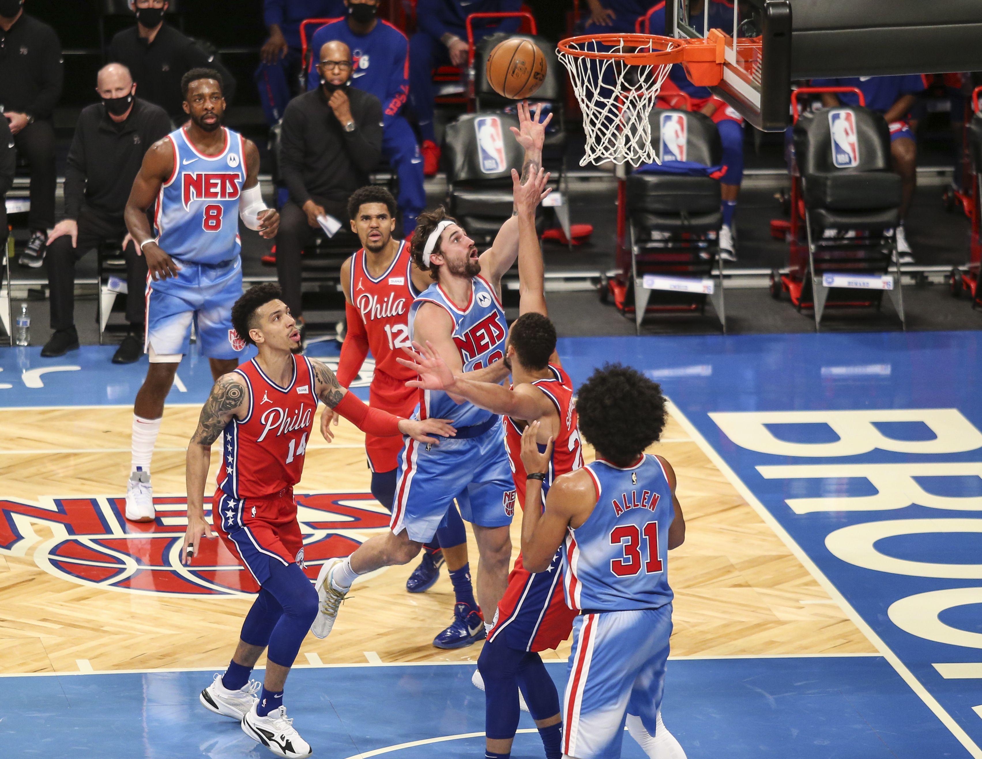 Los Brooklyn Nets vencieron a los líderes Philadelphia 76ers (Credit: Wendell Cruz-USA TODAY Sports)