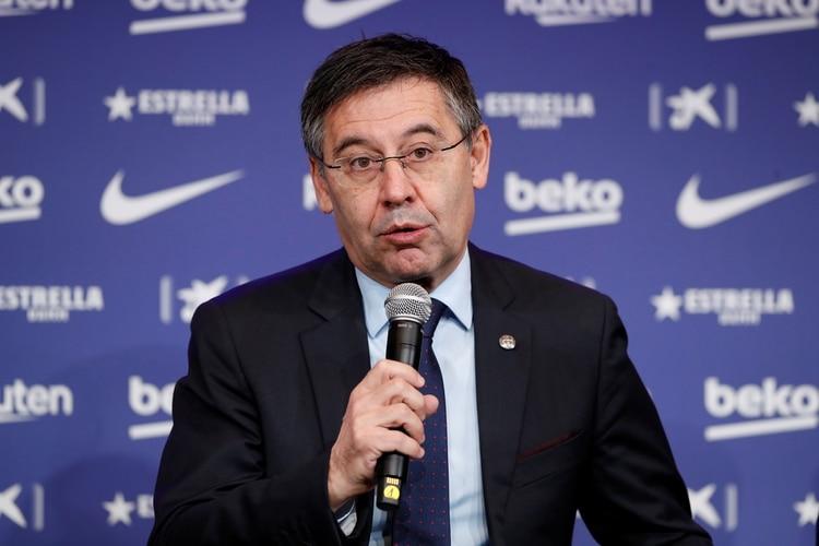 Bartomeu, uno de los apuntados por el caso de la filtración de la campaña de difamación contra los futbolistas actuales e históricos del club culé (REUTERS/Albert Gea)