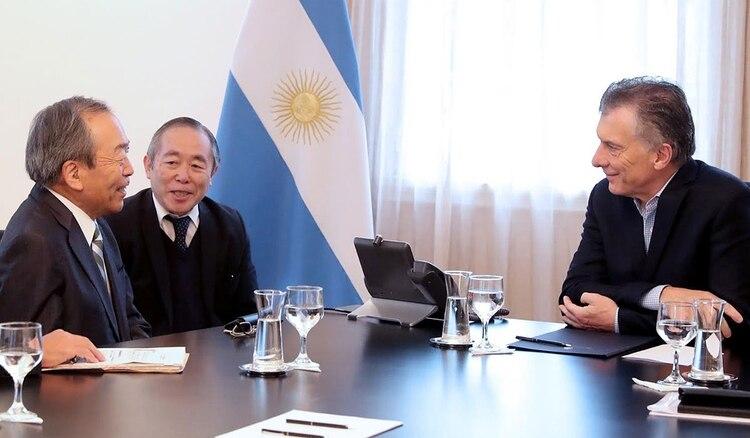 Macri recibió en Olivos a los máximos directivos de la firma japonesa.