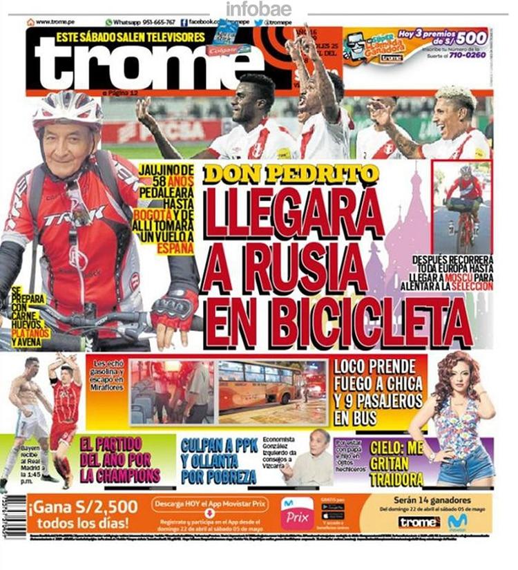 Trome Perú Miércoles 25 De Abril De 2018 Infobae