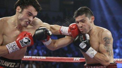 Julio César Chávez Jr. y Maravilla Martínez en la pelea que protagonizaron en 2012 y que ganó el argentino por decisión unánime