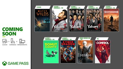 Month after month, the Xbox Game Pass catalog is renewed, adding games for PC, consoles and the cloud.