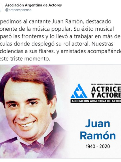 El mensaje desde la Asociación Argentina de Actores
