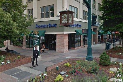 El banco donde se reportó el crimen
