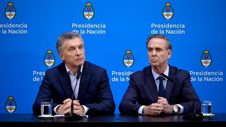 Pichetto junto al presidente de la Nación, Mauricio Macri (Gustavo Gavotti)