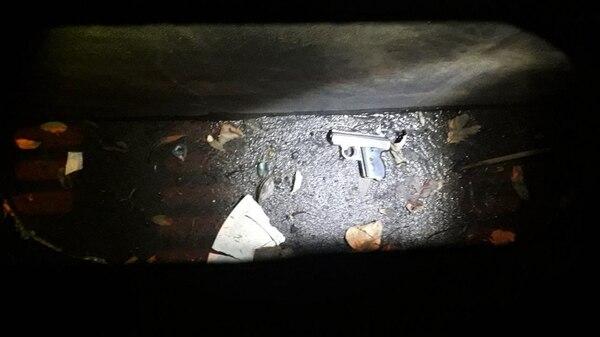 El arma del crimen en el barrio Samoré de Lugano