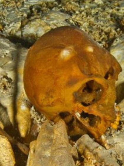 Naia, el esqueleto hallado en un cenote mexicano (Foto: Twitter@mexicoambiental)