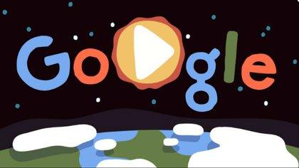 El doodle de Google por el día de la tierra (Foto: Archivo)