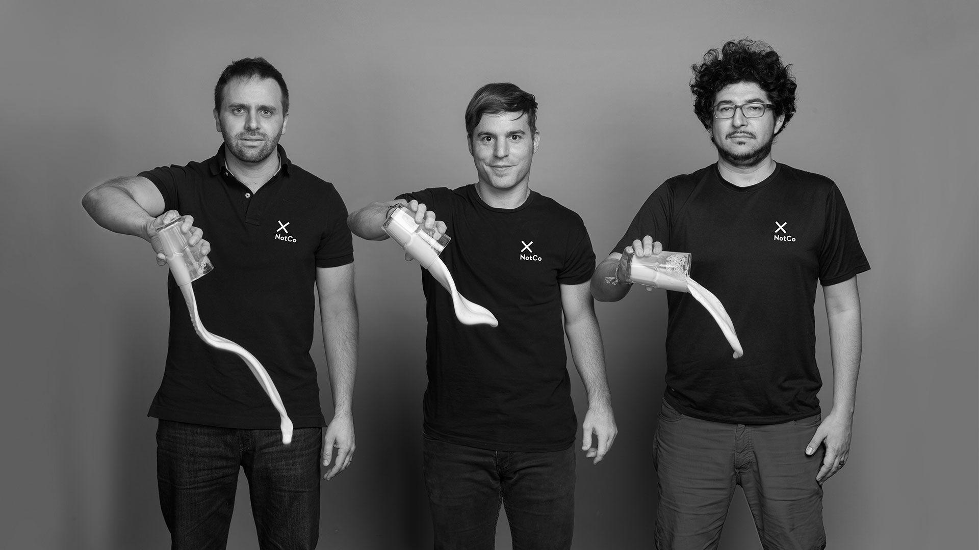 Karim Pichara, Matías Muchnick y Pablo Zamora, creadores de NotCo.