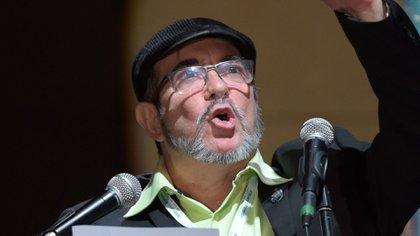 """Líder del partido político FARC, Rodrigo Londoño, conocido como """"Timochenko"""""""