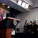 U.S. President Donald Trump addresses the daily coronavirus response briefing at the White House in Washington, U.S., March 31, 2020. REUTERS/Tom Brenner?