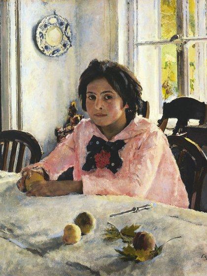 """""""Niña con melocotones"""" (1887) de Valentín Serov"""