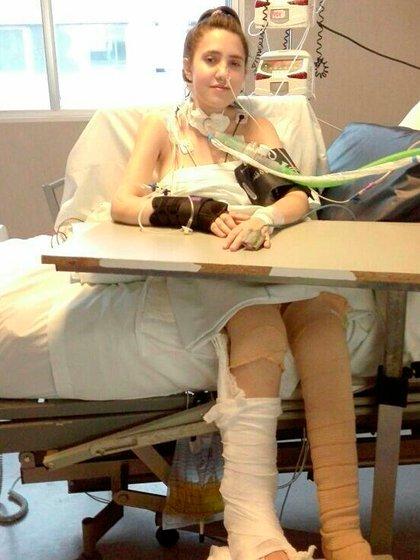Tamara Román pasó por tres operaciones y tuvo tres paros cardíacos: estuvo ocho meses internada en Terapia Intensiva con respirador (@_rtamara)