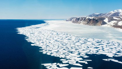 Imagen del deshielo y el cambio climático (Europa Press)