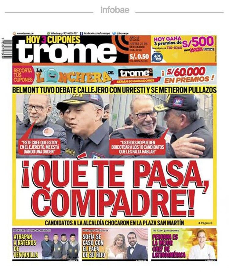 Trome Perú Viernes 28 De Septiembre De 2018 Infobae
