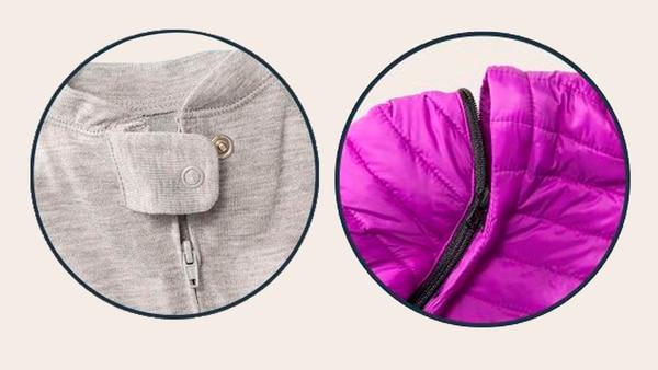 La ropa cuenta con cierres extra, bolsillos ocultos para el acceso al estómago y aberturas traseras (Target)