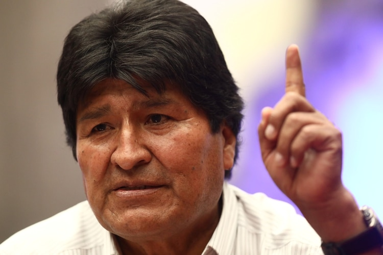 Bolivia's former President Evo Morales gestures as he speaks during a news conference in Mexico City, Mexico November 13, 2019. REUTERS/Edgard Garrido
