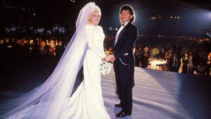 El casamiento de Diego y Claudia, en el mítico Luna Park (foto archivo Gente)