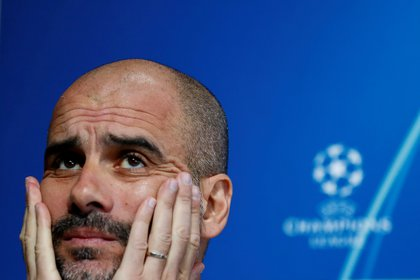 Pep Guardiola, entrenador del Manchester City (Reuters)