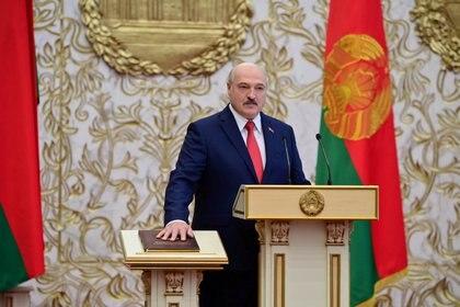 La jura de Alexander Lukashenko este miércoles en Minsk (Andrei Stasevich/BelTA via REUTERS)
