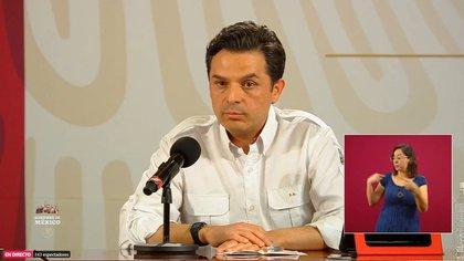 El director general del Instituto Mexicano del Seguro Social (IMSS), Zoé Robledo también se contagió aunque ya se recuperó y ayer se reincorporó a las actividades laborales (Captura de pantalla: Gobierno de México)