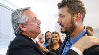 Alberto Fernández y Marcelo Tinelli