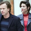 Photo © 2018 Splash News/The Grosby Group NYC, Apr 23 2018 Ewan McGregor and Mary Elzabeth Winstead head out of their hotel in New York