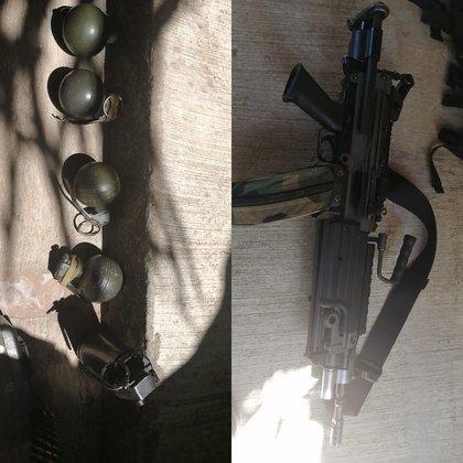 Por las imágenes compartidas se aprecian granadas de mano (Foto: Twitter/@waltrjramos)