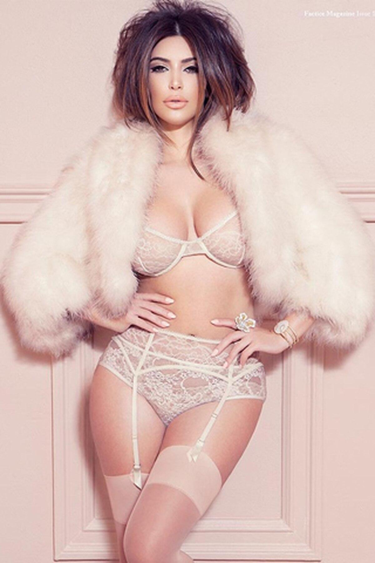 Kim Kardashian posó en lencería y aseguran que pasó por el quirófano ...
