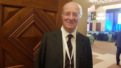 Rocca, CEO de Techint y chair del grupo de Comercio, en la reunión del B20 en abril en Washington