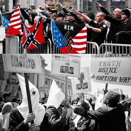 El auge del movimiento de la derecha alternativa con el foco puesto en preservar la supremacía blanca tiene sus orígenes en grupos nacidos en ámbitos rurales como el Ku Klux Klan
