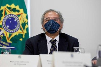 10/06/2020 El ministro de Economía de Brasil, Paulo Guedes, con mascarilla ECONOMIA INTERNACIONAL Isac Nobrega/Palacio Planalto/dp / DPA