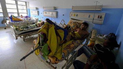 Pacientes en el hospital Miguel Pérez Carreño, en Caracas, el 8 de marzo de 2019 (AFP)
