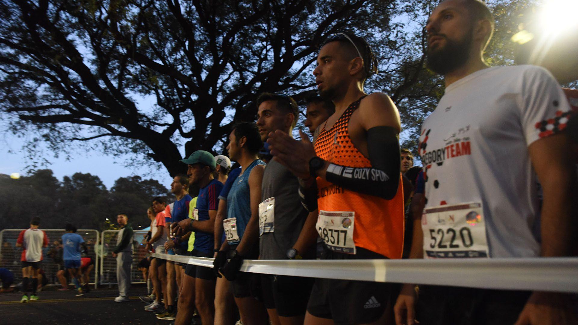 La carrera se inició puntual, a las 7.30 de la mañana