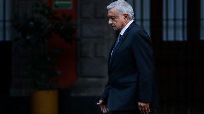 López Obrador en Palacio Nacional (Foto: Cuartoscuro)
