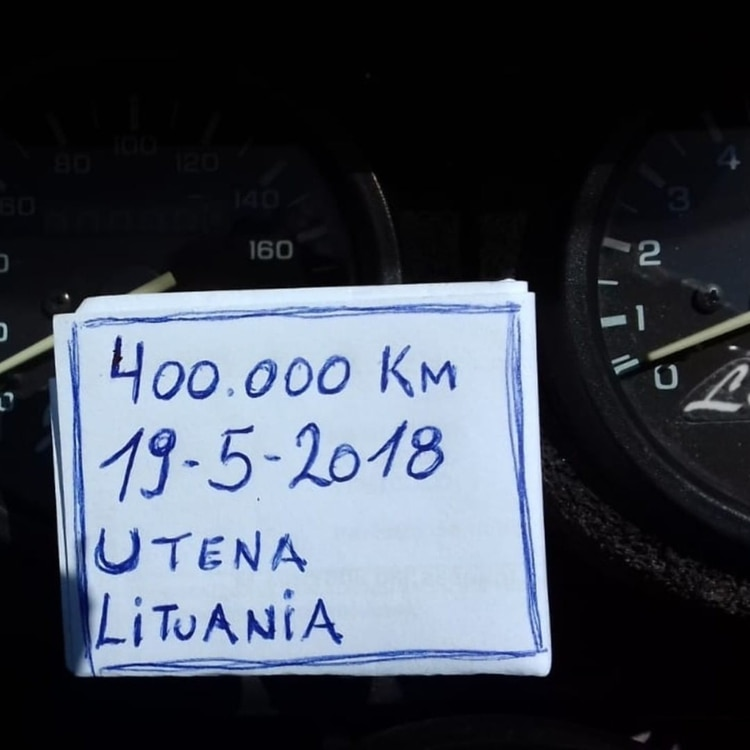 Cumplieron los 400.000 kilómetros en Lituania