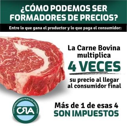 Una de las imágenes con que CRA respondió a intentos anteriores del Gobierno por culpabilizar a los productores a raíz del aumento de precios