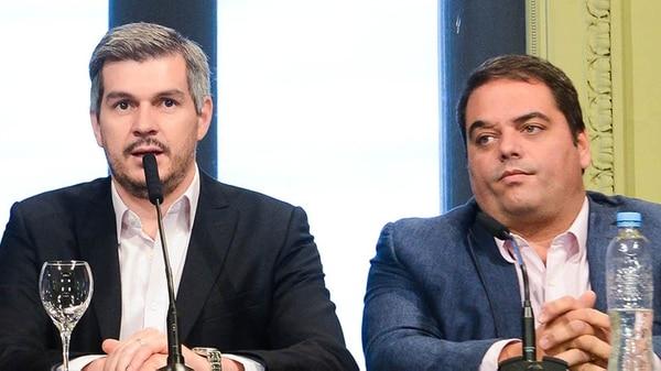 Marcos Peña y Jorge Triaca (Presidencia)