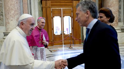 Mauricio Macri junto al papa Francisco (Presidencia)