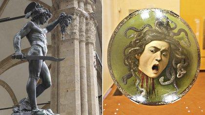 """La estatua de Cellini, """"Perseo con la cabeza de Medusa"""", y la pintura de Caravaggio"""