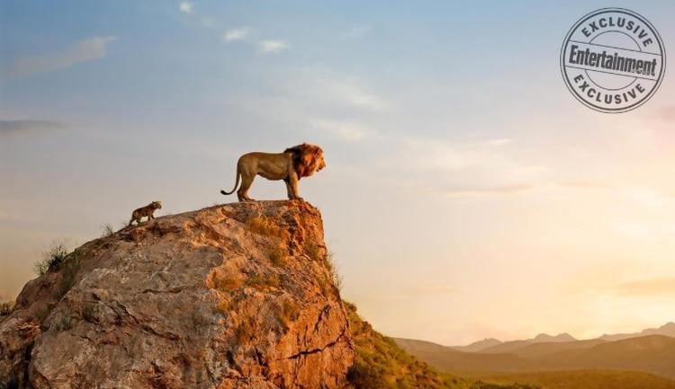 Mufasa ySimba observan hasta dónde se extiende su reino (Foto: Disney/Entertainment Weekly)