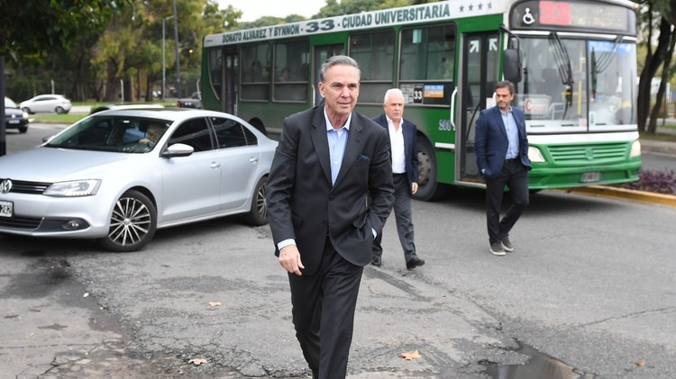 El compañero de fórmula de Mauricio Macri, Miguel Ángel Pichetto.