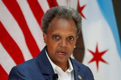 La alcaldesa de Chicago,Lori Lightfoot. REUTERS/Kamil Krzaczynski/File Photo