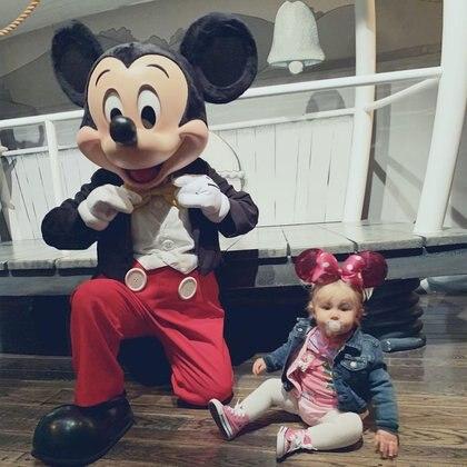 Matilda junto a Mickey. (Foto: Instagram)
