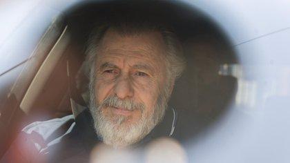 Cristóbal López al momento de ser liberado