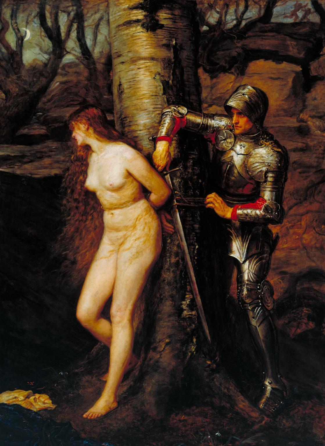 """""""El caballero errante"""", de Sir John Everett Millais (Tate)"""