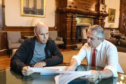 Alberto Fernández y Horacio Rodríguez Larreta (Presidencia)