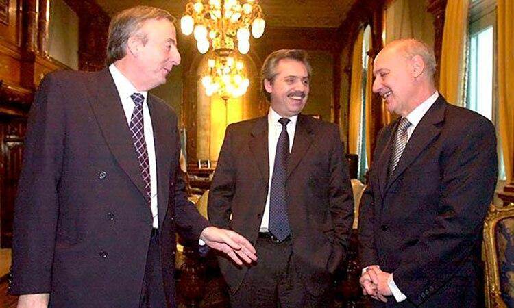 Con Nestor Kirchner y Rodolfo Lavagna antes de su renuncia en 2005