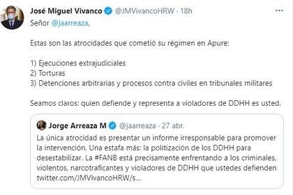 El intercambio de José Miguel Vivanco y Jorge Arreaza a propósito del informe sobre Venezuela de Human Rights Watch